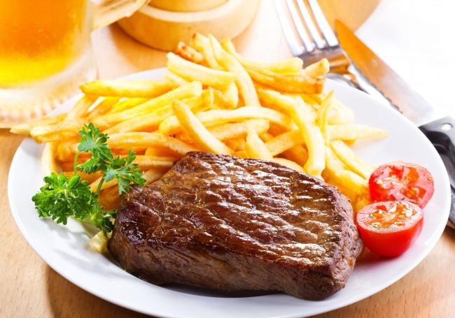 牛排套餐美食图片